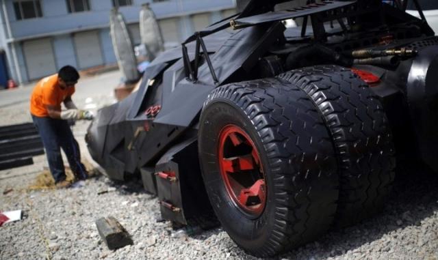 Bat Car Replica from Scrap Metal, BVatmobile from Scrap Metal, Bat Car Replica, Tumbler Replica, China