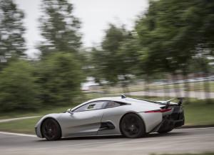 Jaguar C-X75 on the Track