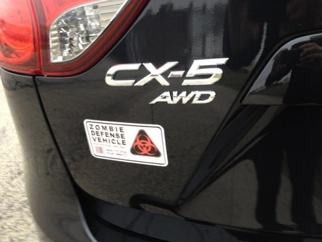 Zombie Defense Vehicle, license plate, photo