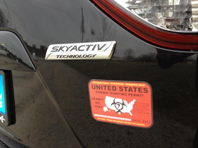 Zombie Hunting Permit, license plate, photo