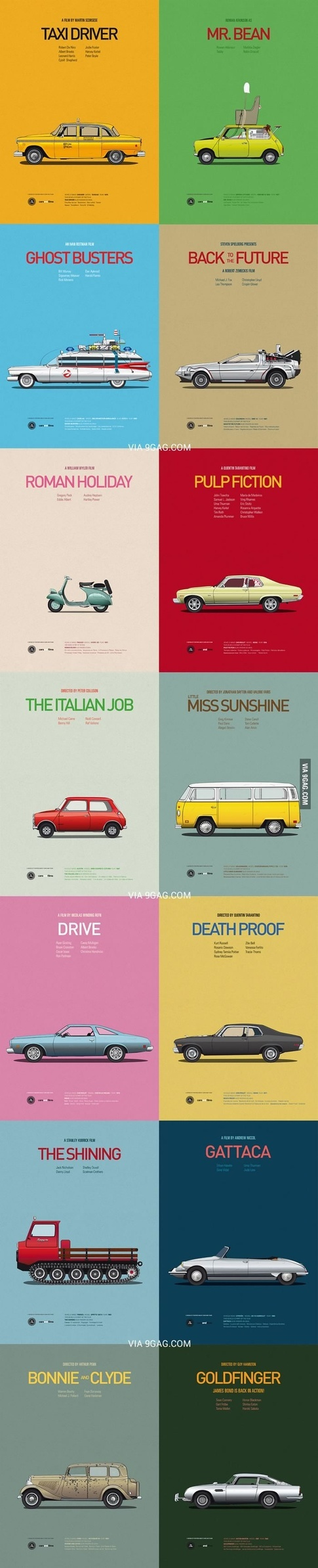 Greatest Movie Cars Posters