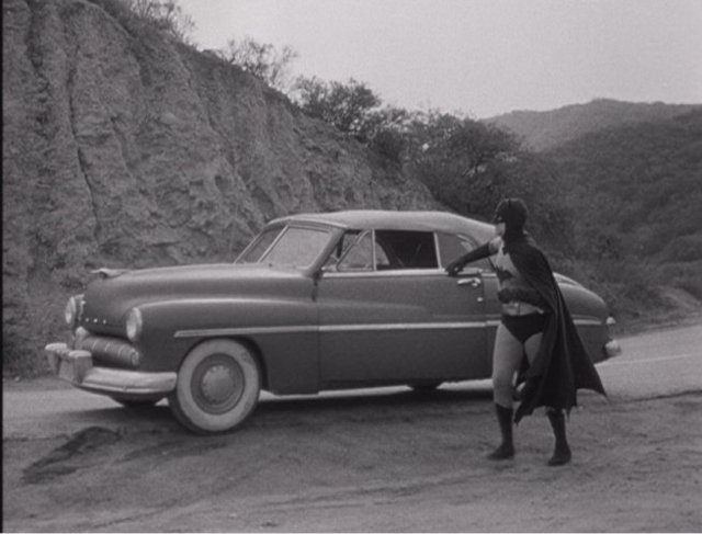 1949 Mercury Eight Convertible 9CM-76 + Batmobile, Batman and Robin Serial 1949