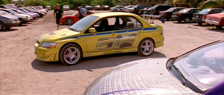 "2003 Mitsubishi Eclipse Spyder >> 2003 ""2 Fast 2 Furious""/ 2002 Mitsubishi Lancer Evolution VII - Best Movie Cars"