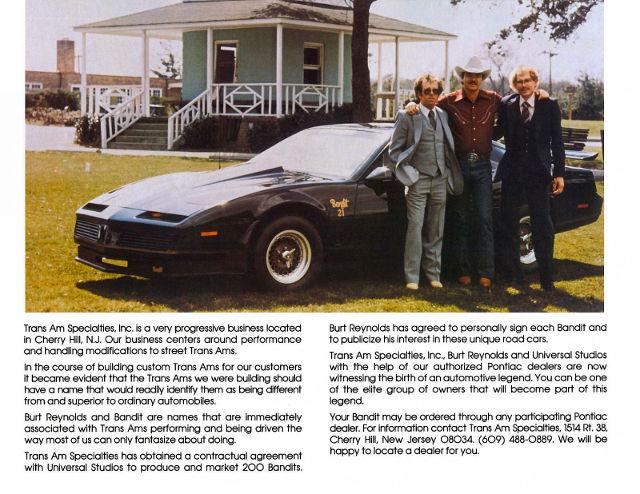 1982 Pontiac Firebird Trans Am Bandit